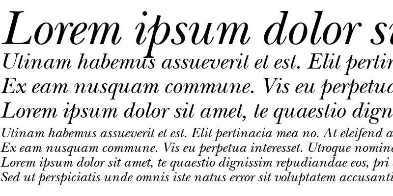 Sample of NewBaskervilleCTT Italic