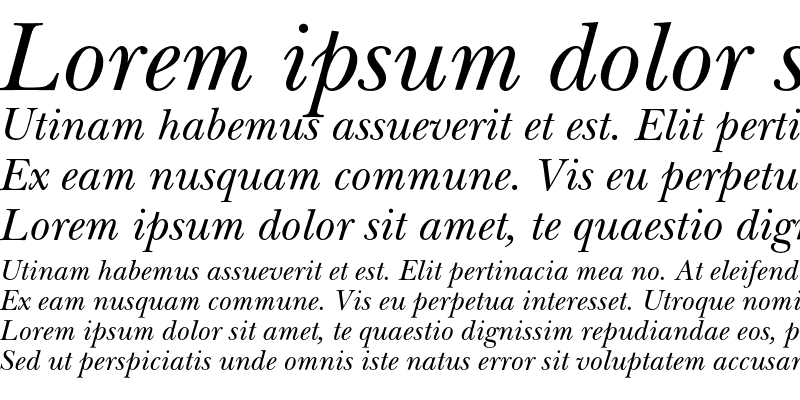 Sample of NewBaskervilleEF Italic