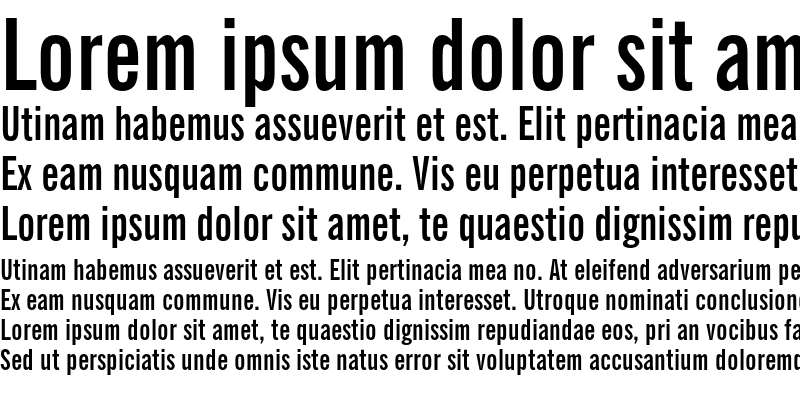 Sample of News Gothic Extra Condensed Bold