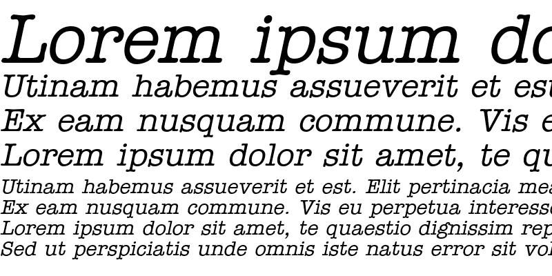 Sample of News Italic