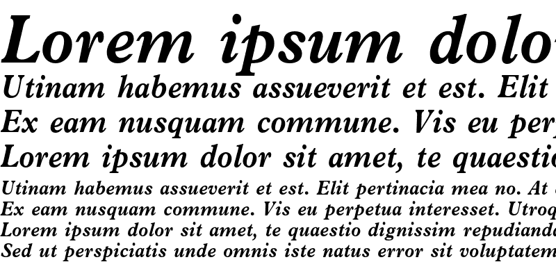 Sample of News Plantin Bold Italic
