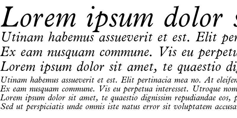Sample of News Plantin Italic