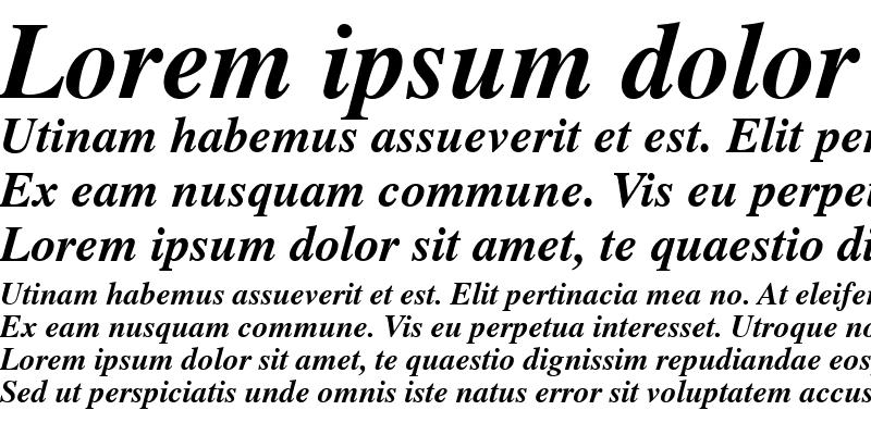 Sample of News Serif BOLDITALIC