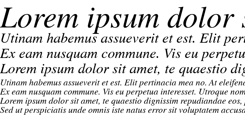 Sample of News Serif ITALIC