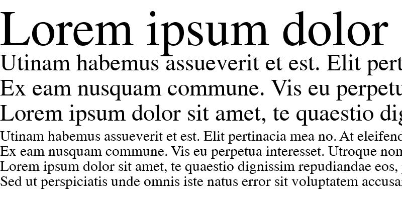 Sample of News Serif Regular