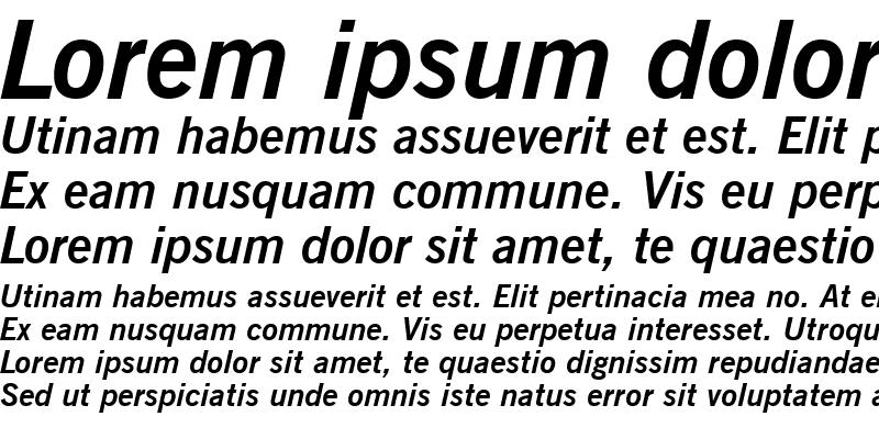 Sample of NewsGoth BT Bold Italic