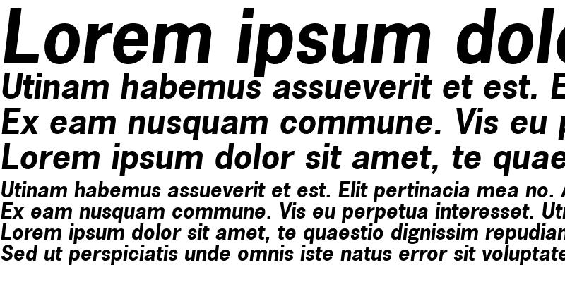 Sample of NewsGothic LT Bold Italic