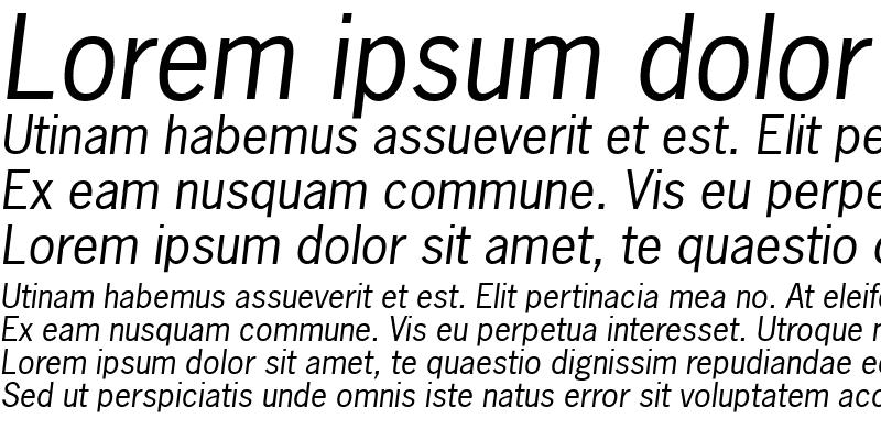 Sample of NewsGothic