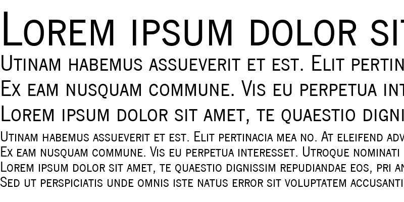 Sample of NewsGothicSmc