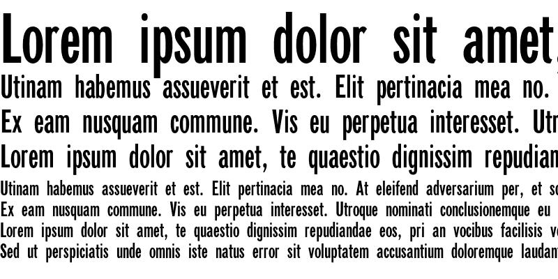 Sample of NewspaperSans