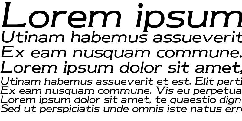 Sample of Newtext Book Italic