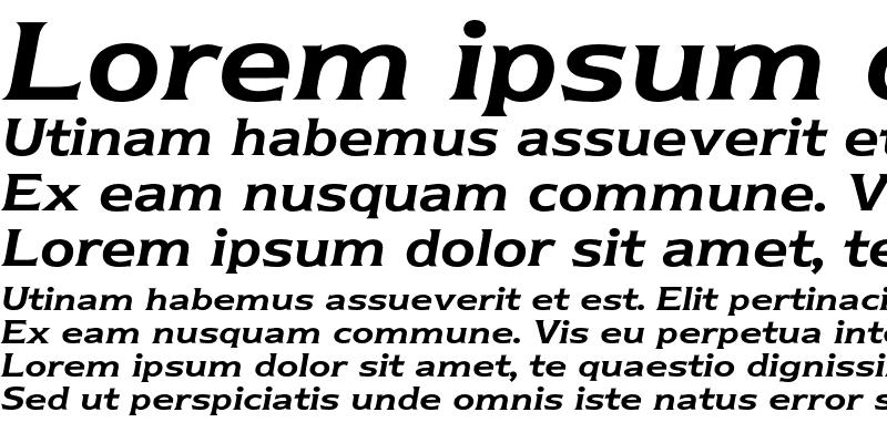 Sample of Newtext BQ