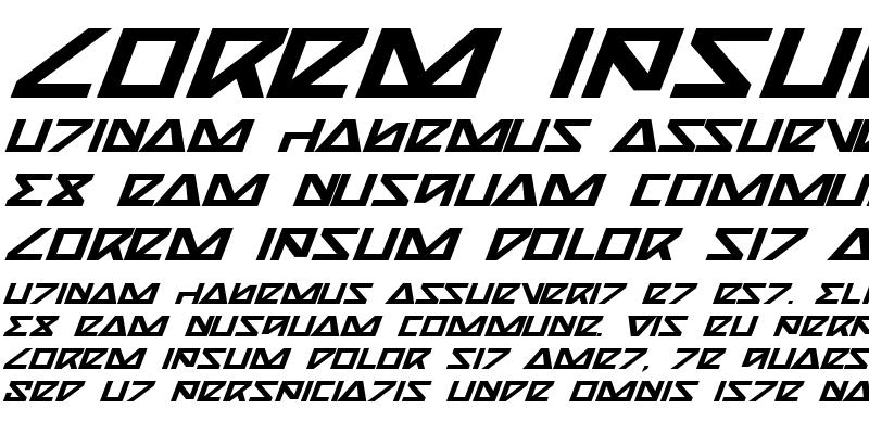 Sample of Nick Turbo Bold Expanded Italic Bold ExpandedItalic