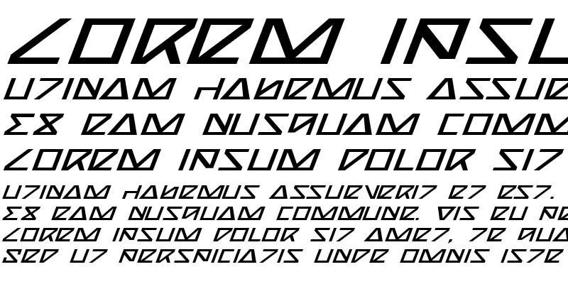 Sample of Nick Turbo Expanded Italic Expanded Italic