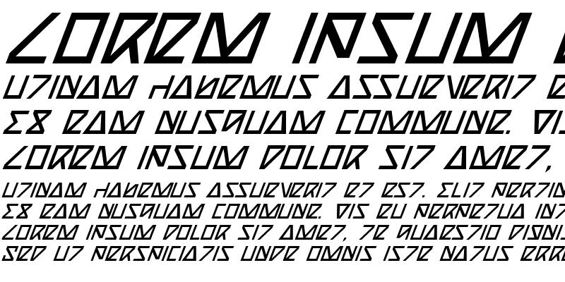 Sample of Nick Turbo Italic