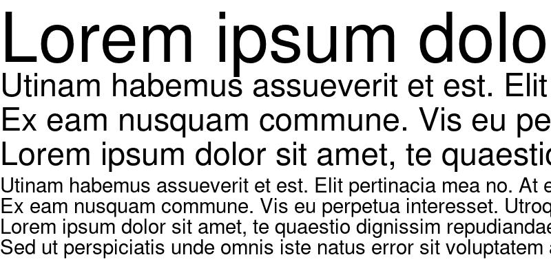 Sample of Nimbus FreeSans