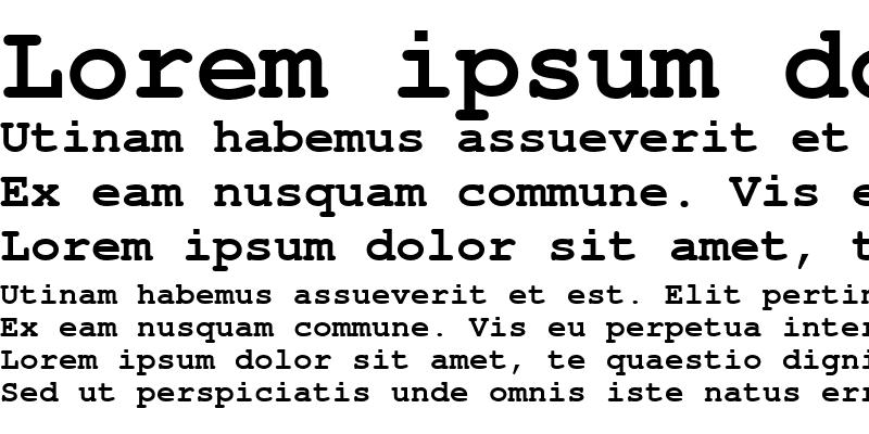 Sample of NimbusMonL Bold
