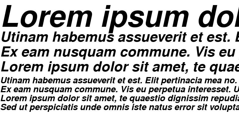 Sample of NimbusSanL Bold Italic