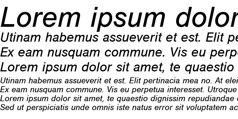 Sample of NimbusSanT Italic