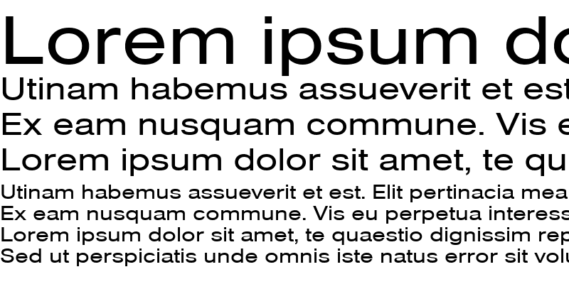 Sample of NimbusSanTExt Regular
