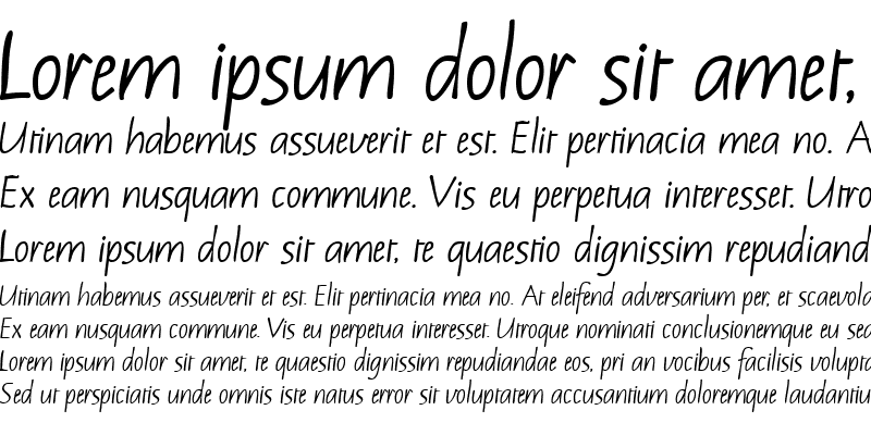 Sample of Notehand Bold