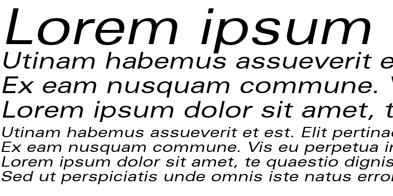 Sample of Nova Expanded SSi Expanded Italic
