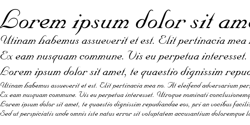 Sample of Nuance Italic
