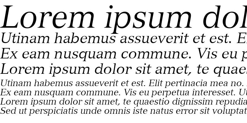 Sample of Nuance SSi Italic