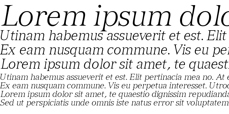 Sample of NuanceLightSSK Italic