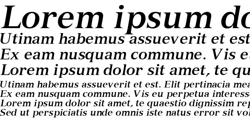 Sample of NuanceSSK Bold Italic