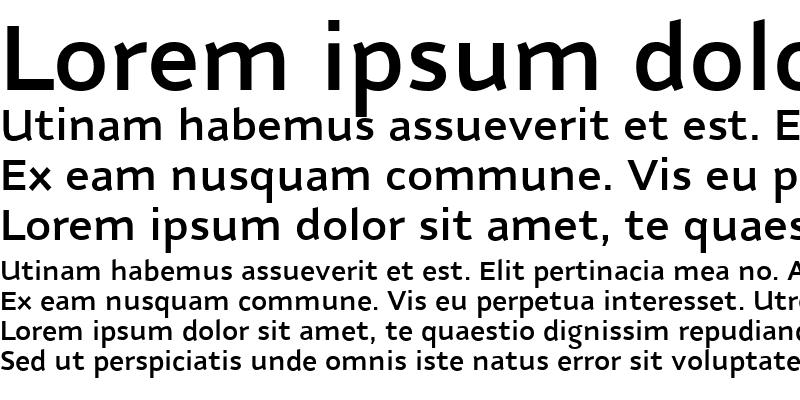 Sample of NubianDemiBold