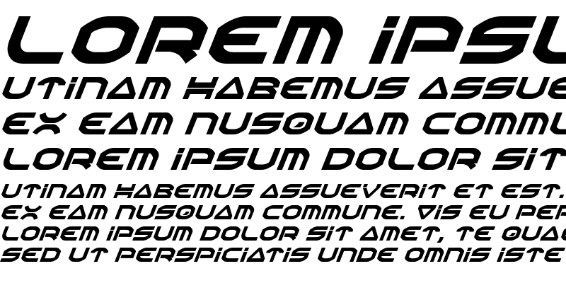 Sample of Oberon Italic