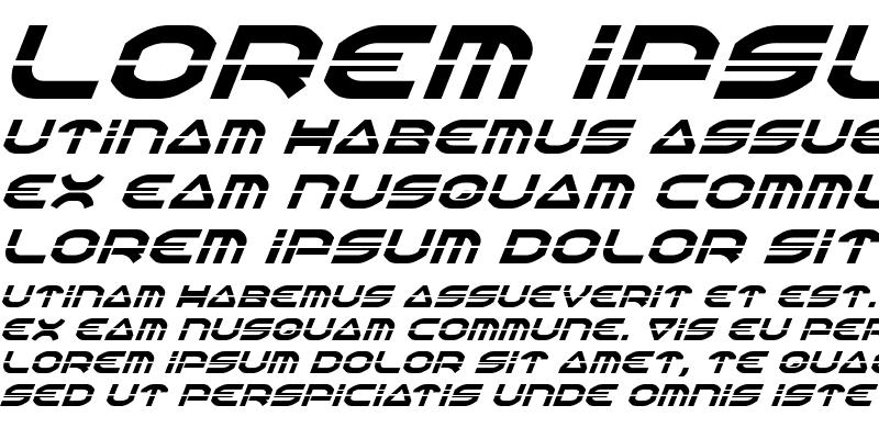 Sample of Oberon Laser Italic