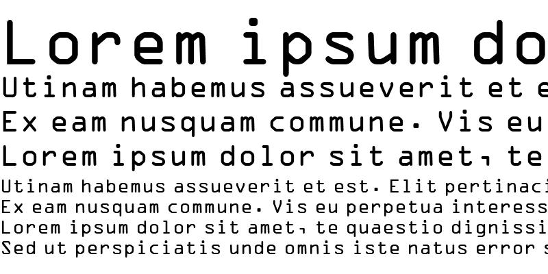 Sample of OCR-A BT
