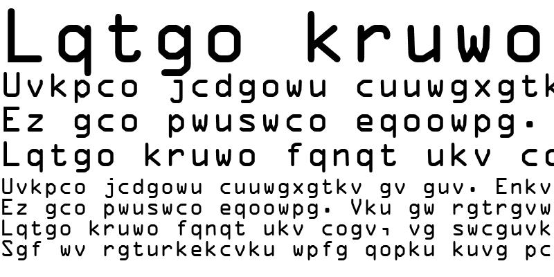 Sample of OCRA Regular