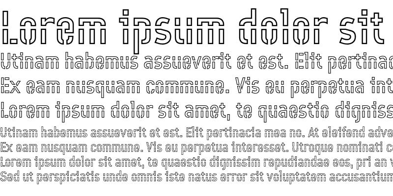 Sample of Offline Outline Regular
