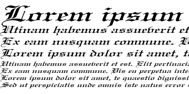 Sample of Old English Ex Italic