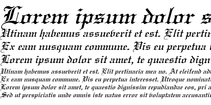 Sample of Old English Italic