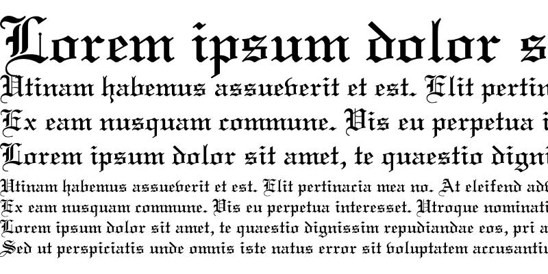 Sample of Old English Regular