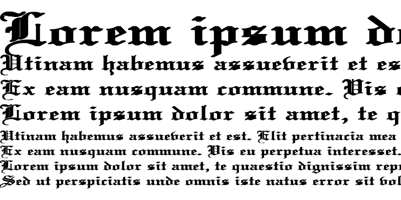 Sample of Old English Wd Bold