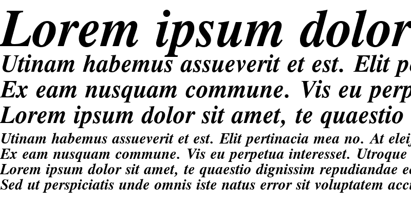 Sample of Old-Times Bold Italic
