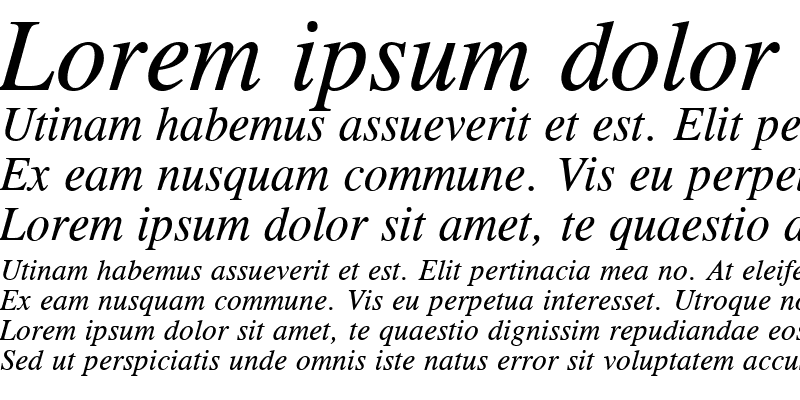 Sample of Old-Times Italic