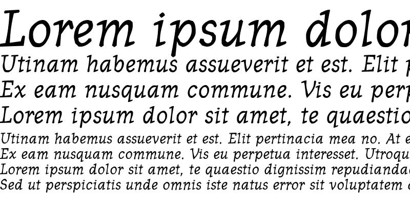 Sample of OldNews Bold Italic