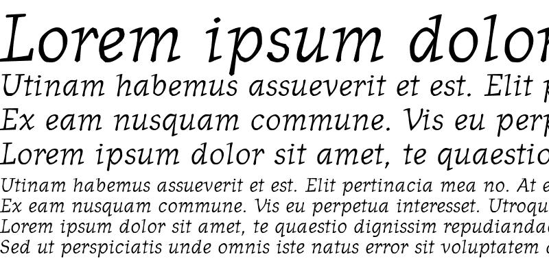 Sample of OldNews Italic