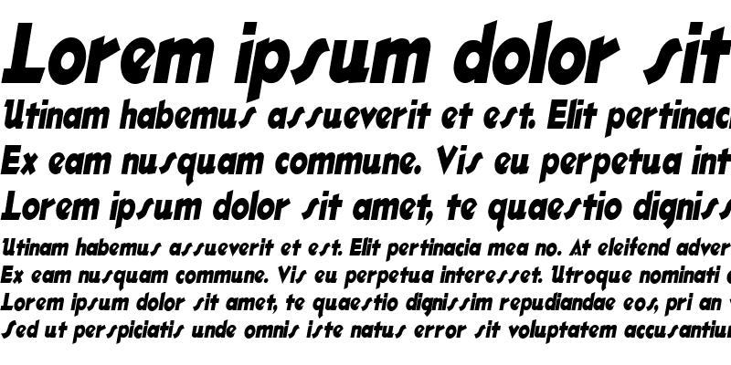 Sample of OleCondensed Italic