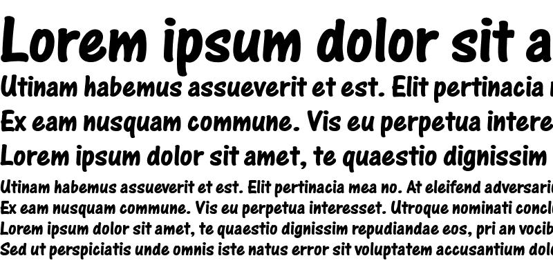 Sample of One Stroke Script Bold LET