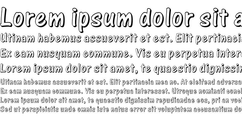 Sample of One Stroke Script Shaded