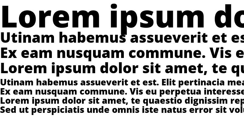 Sample of Open Sans Extrabold