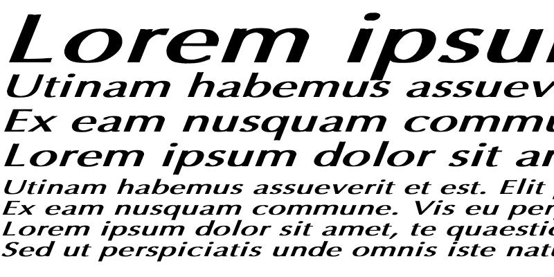 Sample of Optima Bold Italic Ex BI