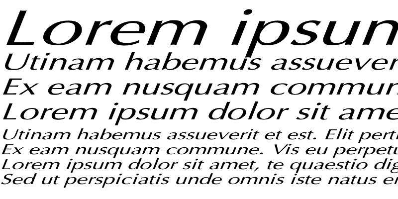 Sample of Optima Italic Ex Italic